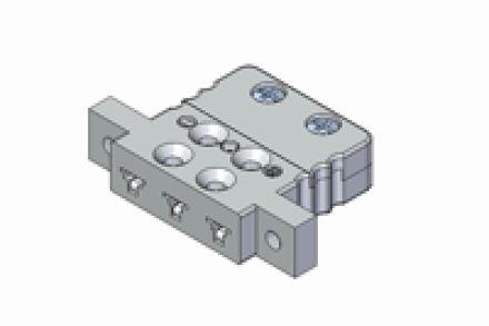 Immagine di Inserto da Pannello Miniatura a Tre Contatti con Alette di Fissaggio